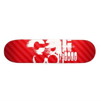 Cali; Scarlet Red Stripes Skateboards