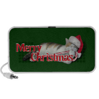 Cali the Candy Cane Kitty iPod Speakers