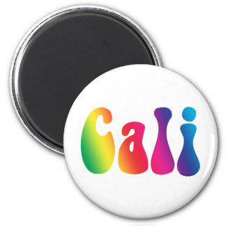Cali Tie-Dye California Hippie Logo Magnet