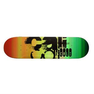 Cali; Vibrant Green, Orange, & Yellow Skateboard