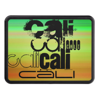 Cali; Vibrant Green, Orange, & Yellow Tow Hitch Cover