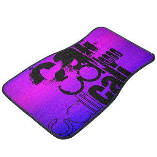 Cali; Vibrant Violet Blue and Magenta Floor Mat