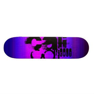 Cali; Vibrant Violet Blue and Magenta Custom Skateboard