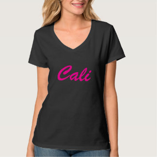 CALI WOMEN'S HANES V-NECK T-SHIRT