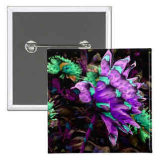 Calico Bird of Paradise, magnet Buttons