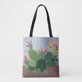 Calico Cactus Allover Tote Bag