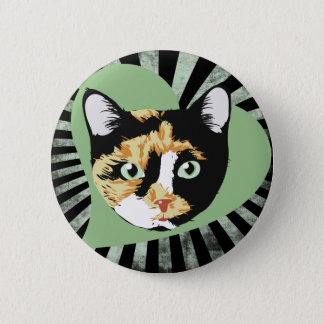 Calico Cat 6 Cm Round Badge