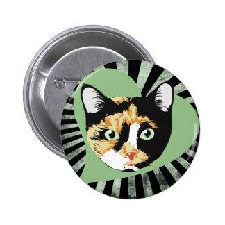 Calico Cat 6 Cm Round Badge