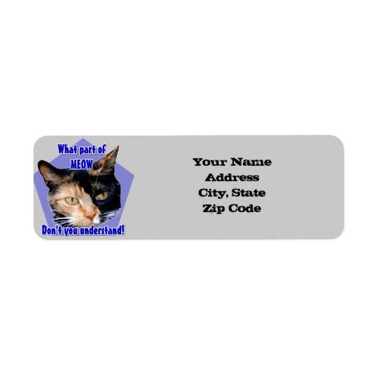 Calico cat address labels