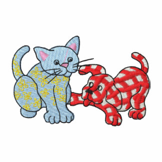 Calico Cat and Gingham Dog