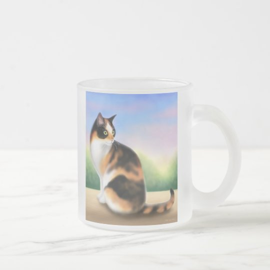 Calico Cat at Sunset Coffee Mug