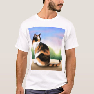 Calico Cat at Sunset T-Shirt