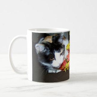 Calico Cat Autumn Mug