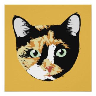 Calico Cat Bonita Poster