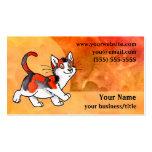 Calico Cat Business Card - Fiery Orange