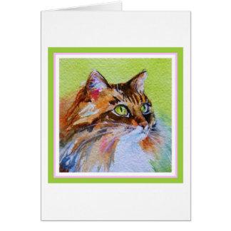 Calico Cat Card