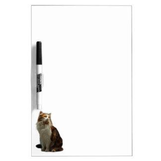 Calico Cat Fractal Dry Erase Board
