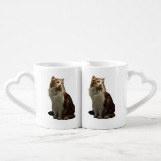 Calico Cat Fractal Couples Mug