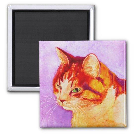 """Calico Cat Magnet - """"Mango"""""""