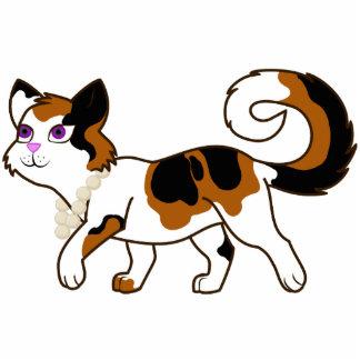 Calico Cat Photo Sculpture Badge