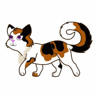 Calico Cat Photo Sculpture Keychain