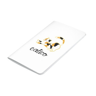 Calico Cat Pocket Notebook Patterned Inner Covers