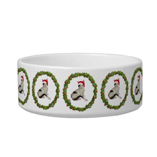 Calico Christmas Wreath Bowl