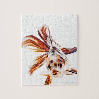 Calico Fantail Comet goldfish (Carassius Jigsaw Puzzle