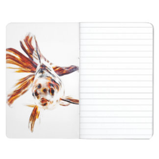 Calico Fantail Comet goldfish (Carassius Journals
