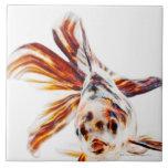 Calico Fantail Comet goldfish (Carassius Ceramic Tiles