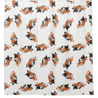 Calico Fish Shower Curtain