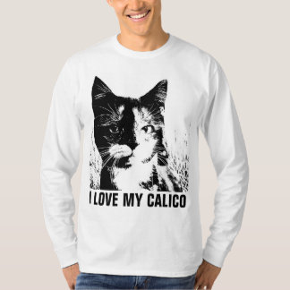 CALICO, I LOVE MY CALICO CAT t-shirts