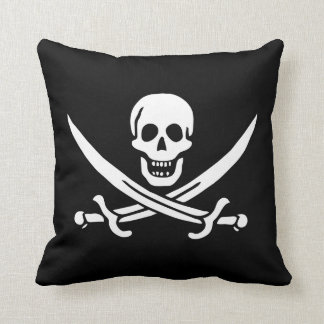 Calico Jack Rackham Pirate Flag Pillow 16 x 16