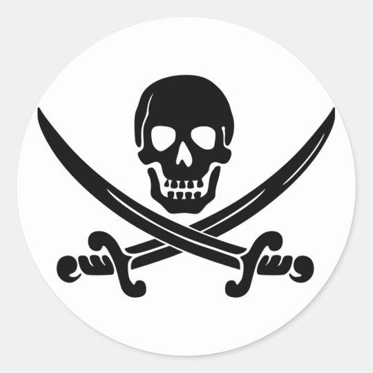 Calico Jack Skull & Swords Sticker