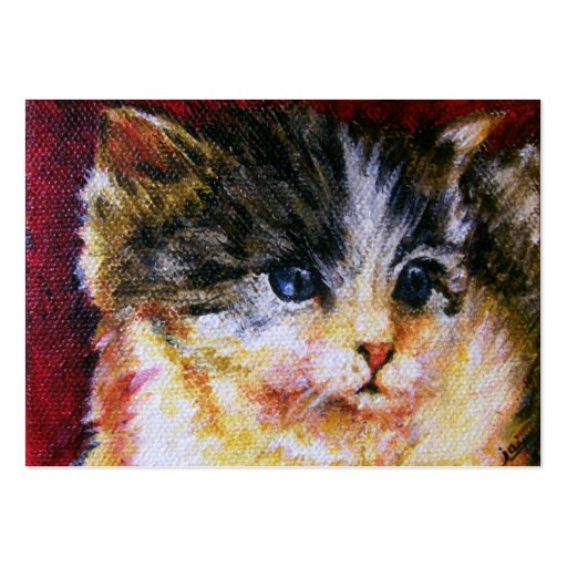 Calico Kitten ACEO Art Trading Cards Business Card Template
