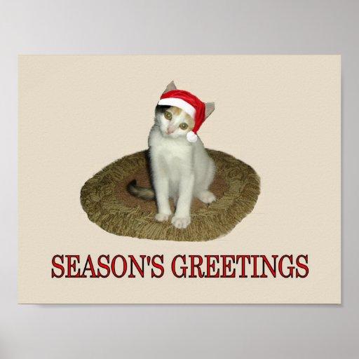 Calico Kitten's Season's Greetings Posters
