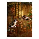 Calico kitty Christmas Greeting Card