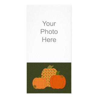 Calico Pumpkin Trio Photo Card