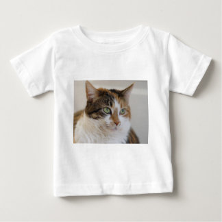 Calico tabby cat face shirts