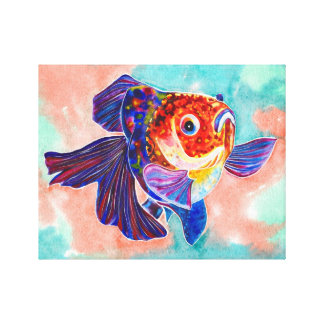 Calico Veiltail Goldfish canvas print