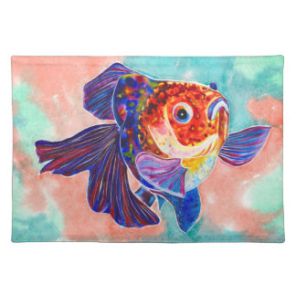 Calico Veiltail Goldfish design placemat