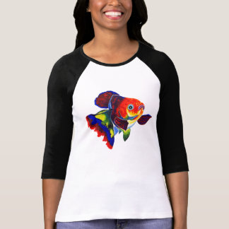 Calico Veiltail Goldfish design T-shirt