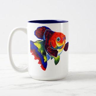 Calico Veiltail Goldfish mug