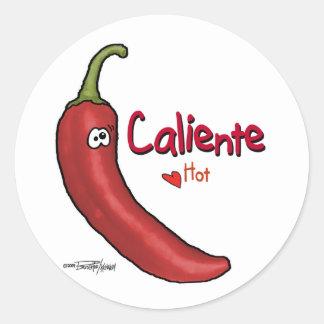 Caliente Hot Stuff - Valentine Round Sticker