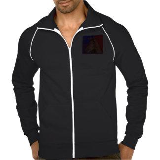 Calif  Fleece Track Jacket HORSE Black White