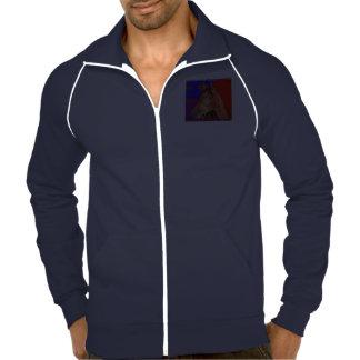 Calif  Fleece Track Jacket HORSE Navy Blue White
