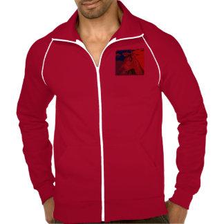 Calif  Fleece Track Jacket HORSE Red White