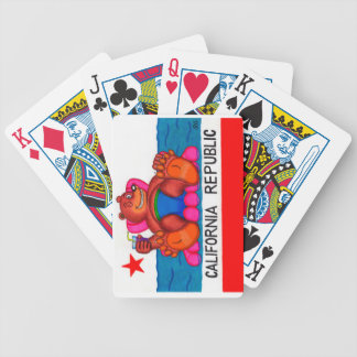 Califoria Bear Feet Flag Bicycle Playing Cards