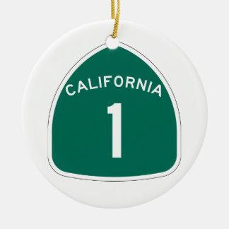 California 1 christmas ornament