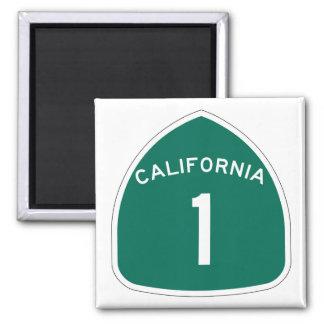 """""""California 1"""" Square Magnet"""